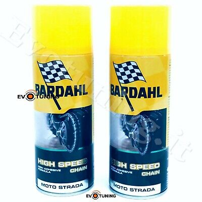 BARDAHL HIGH SPEED CHAIN Grasso Lubrificante Catena Spray Moto Strada 2 x 400ml