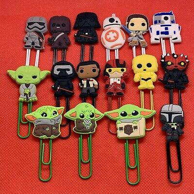 Star Wars - Bobblehead / Lego Paperclip Bookmark Chewbacca Darth Vader Rey - NEW