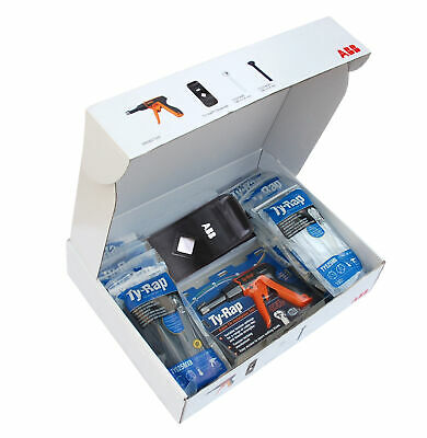 Kabelbinder Sortiment Set Thomas & Betts Ty-Rap® Profi Kit Kabelbinder Zange PRG