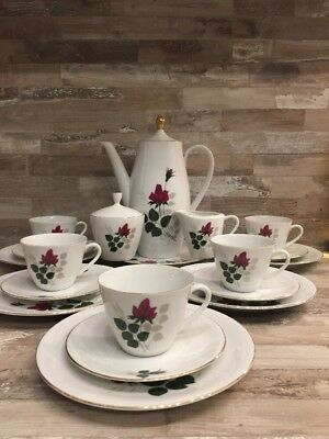 Vintage ♚ Bavaria Seltmann Weiden K Finest China Porcelain Tea Cafe Service 5P.