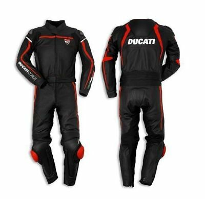 New Ducati Motogp Motorbike Cowhide Leather Suit Man'