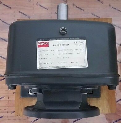 DAYTON MODEL 4Z720A SPEED REDUCER GEAR BOX 0.33 HP 87:1 C-FACE RPM 1725IN/20Out