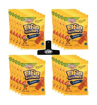 Keebler - Elfin Cookie Crackers, 2.12 Ounce (Pack of 20) - with Exclusive By ...