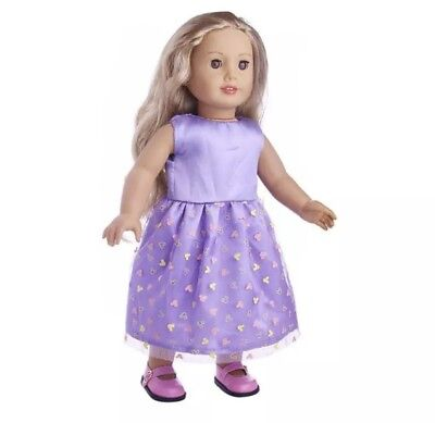 """Girl Doll Clothes Purple Dress - For 18"""" Inch Our Generation"""