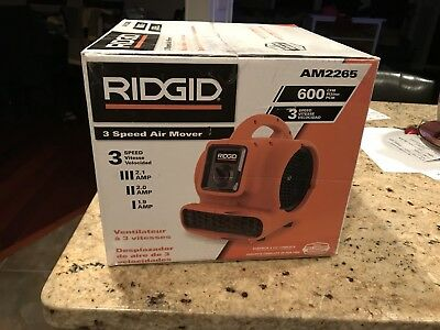 Ridgid AM2265 600 CFM Blower Fan Air Mover with Daisy Chain New