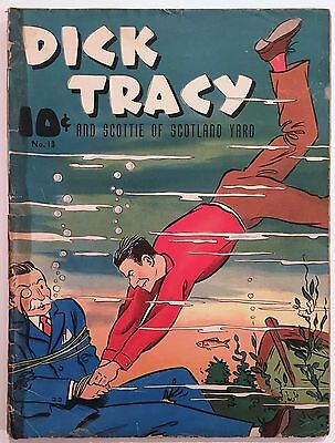 "1940 ""dick Tracy"" Large Feature Book #13 - 1934 Detective Comic Strip Reprints"