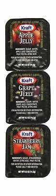 Kraft Jelly (Grape, Strawberry, Apple), 0.5-Ounce Cups (Pack of 200)