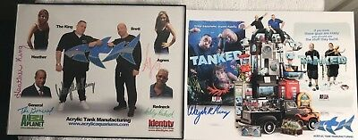 "Tanked Cast 100% Authentic 8 3/4"" X 11 1/2""autographed Photos Framed"
