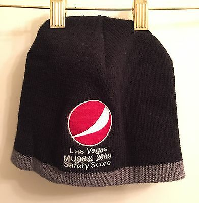 ☀RARE ERROR PEPSI COLA LOGO Beanie Hat Winter Knit Ski Cap☀2009 Safety Score