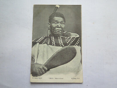"POSTCARD "" MOHI "" MAORI CHIEF HOLDING MERE c1910 NEW ZEALAND"