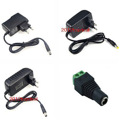 EU AC100-240V To DC 12V 1A 2A 3A Power Supply Adapter for led strip light