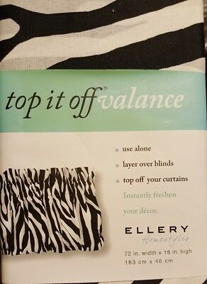 Ellery Homestyles Top It Off Valance Various Designs /& Colors New