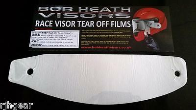 Shoei,kbc,scorpion,clear,tear Offs,genuine Race Visors,bulk Packet X 30