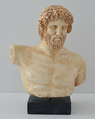 Dionysus - Bacchus Bust- Dionysos God of Wine - Ancient Greece - Museum Replica