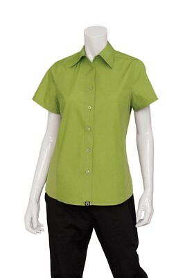 Chef Works Women's Universal Server/Cook Shirt (CSWV)-XL-MISSING TOP BUTTONS