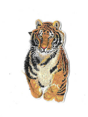 RUNNING TIGER Iron on / Sew on Patch Embroidered Badge Motif Animal Cat PT287