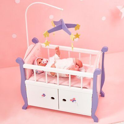 NEW Baby Nursery Doll Cot with Cabinet Olivia's Little World Little Princess