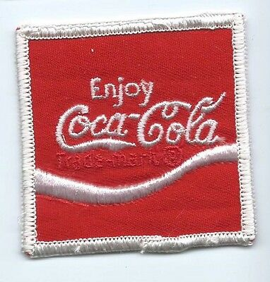 Enjoy Coca Cola driver patch 2-3/8 X 2-3/8 #496