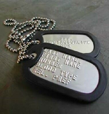 Military Dog Tags USA Stainless Steel (MATTE) + Personalized USA MADE