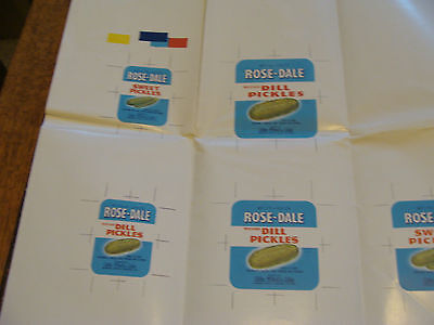 Vintage Print Sample Poster: ROSE-DALE DILL PICKLES, 20x24, #2967