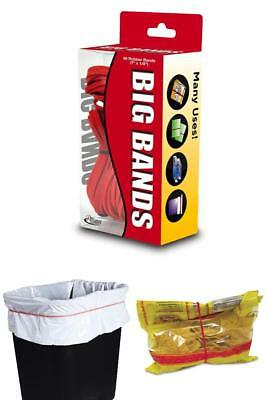 """48 Packs Large Rubber Bands Elastic Red 7"""" x 1/8"""" For Home Office Oversized Jobs"""