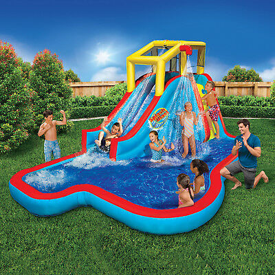 Splash Park Water Slide Inflatable Bouncer Jumper Backyard Family Swimming  Pool