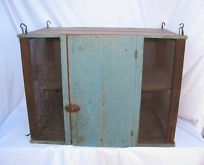 Antique Painted Folk Art Hanging Pie Safe