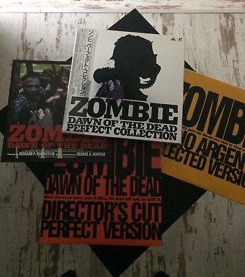 Zombie Dawn of the Dead Japan Perfect Collection LD Box. George A.Romero,Argento