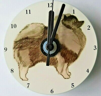 Keeshond CD Clock by Curiosity Crafts