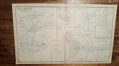Antique MAP - WOLFEBOROUGH, CARROLL COUNTY - NEW HAMPSHIRE - 1892 ATLAS