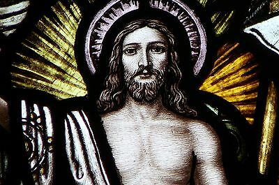 Antique Church Stained Glass Window The Resurrection