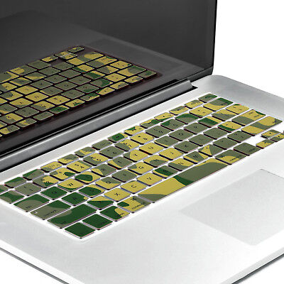 """PASBUY Silicone Keyboard Skin Cover for Apple MacBook Pro Air13 15 17"""" CamoGreen"""