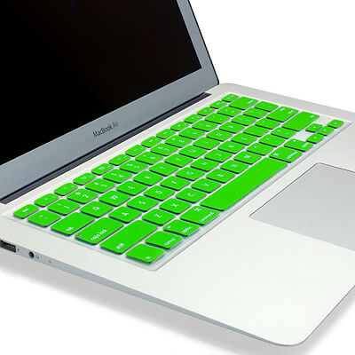 """PASBUY Silicone Keyboard Skin Cover for Apple MacBook Pro Air 13 15 17"""" Green"""