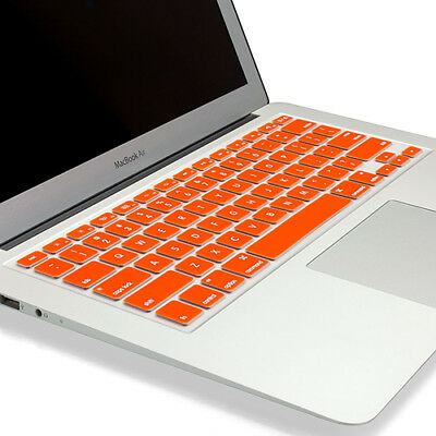 """PASBUY Silicone Keyboard Skin Cover for Apple MacBook Pro Air 13 15 17"""" Orange"""