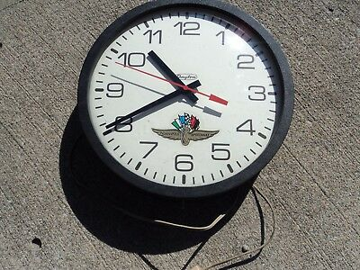 Dayton Indianapolis motor speedway Electric Bubble Glass Wall Clock