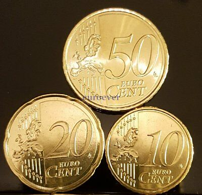 10 20 50 Euro Cent Kursmünze UNC - alle Länder u. Jahre / all countries a. years