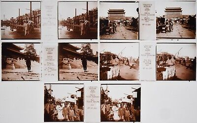 5 Glass stereoview of China. Circa 1900. Format 45 x 107 mm. Good condition.