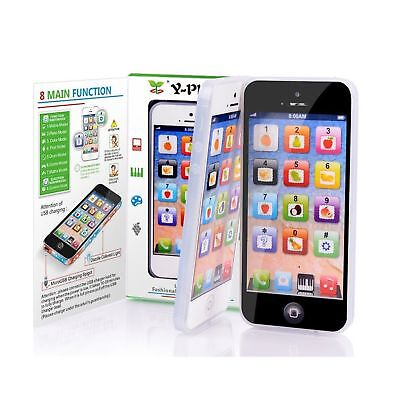 YOYOSTORE Black Mobile Toy Y-phone Kid Baby Music Touch Learning Study Englis...