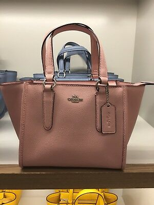 e83770aa079e Nwt Coach F11925 Crossgrain Leather Mini Crossbody Carryall 21 Blush Pink   295