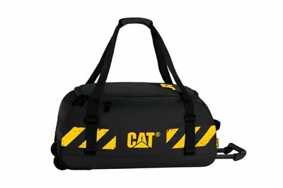 CAT Bucket Loader Wheeled Duffel Zippered Pocket Shoulder Strap 14.2x30.3x14.6""