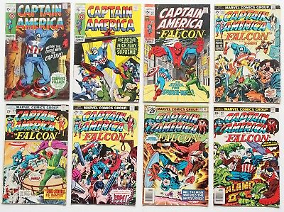 Captain America #123 #125 #137 #173 #184 #195 #199 #203 King Size #1 9 Book Lot