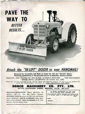 Hanomag R45 Hi-Lift Dozer Pay the Way to Better Results sales sheet 11/54