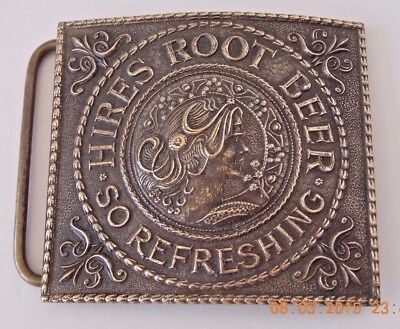 "Vintage Quality - Made Hires Root Beer ""refreshing"" Solid Brass Belt Buckle"