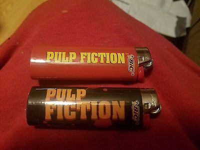 (2) Pulp Fiction Full Size Bic Disposable Lighters