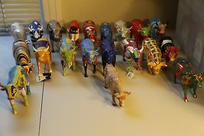 Cow Parade Figurine Collection -20 Piece Lot