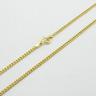 """GENUINE 10K Yellow Gold 2mm Womens Cuban Curb Link Chain Pendant Necklace 24"""""""
