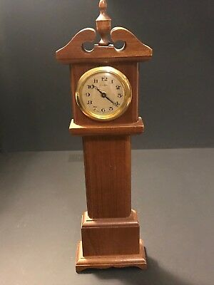 Vtg Florn Germany Cherry Wood Mini Grandfather Clock Wall Clock Parts
