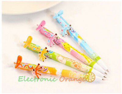 4 pcs Cute & Lovely Giraffe 0.5mm Ballpoint Pens Office School Rollerball pen