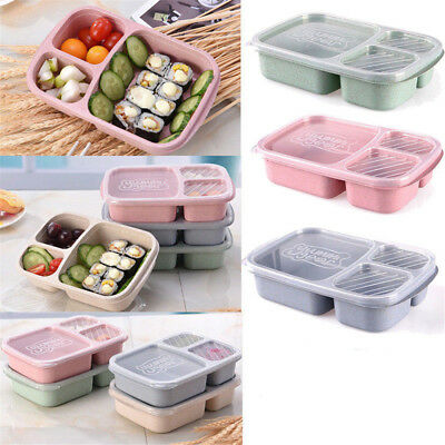 Microwave Bento Utensils Lunch Box Picnic SuShi Food Container Storage Box EA