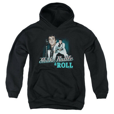 ELVIS SHAKE RATTLE & ROLL Youth Hoodie Pull-Over